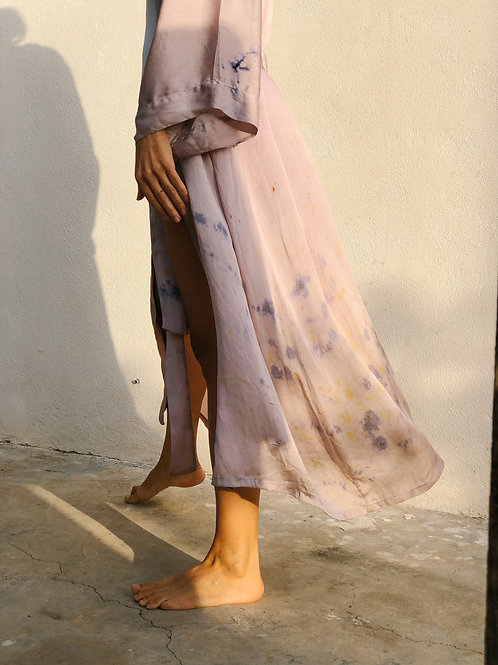 Botanically Dyed Silk  Maxi Kimono n.07 Autumn Edition