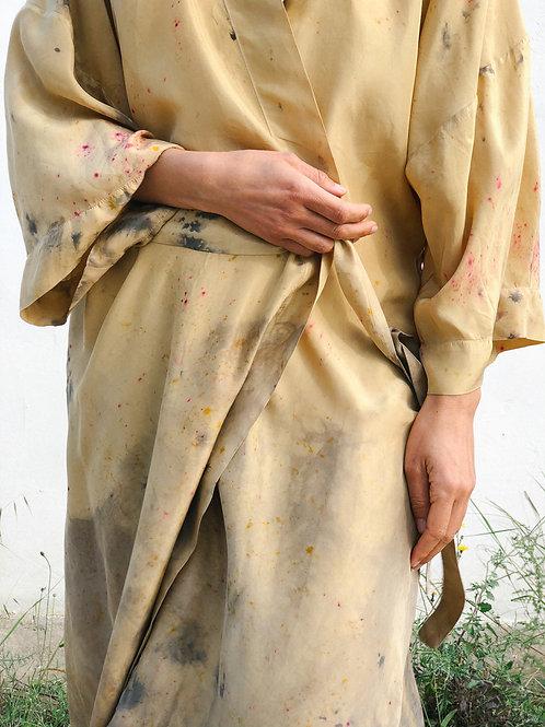 Botanically Dyed Silk Kimono n.03 'Primavera'