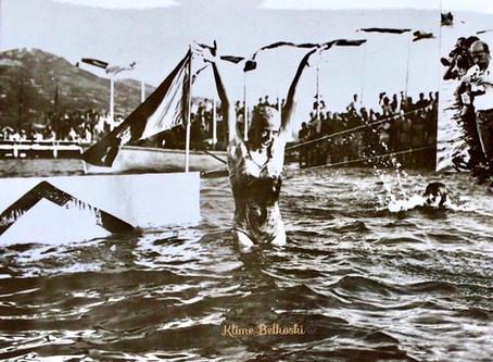 The beginning of Ohrid Swimming Marathon / Het begin van de Ohrid Zwemmarathon