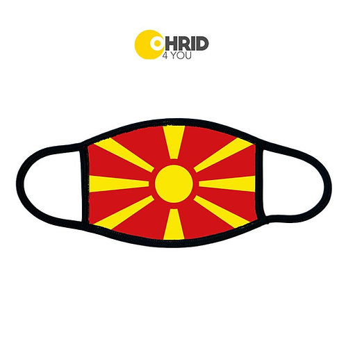 Mouth mask Macedonian flag