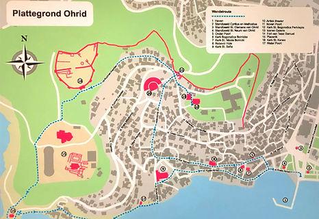 Plattegrond Ohrid