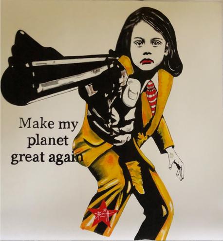 "print ""Make my planet great again"""