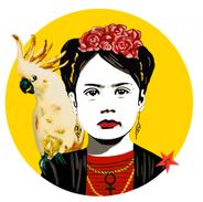 Print Frida 35 x 35 cm