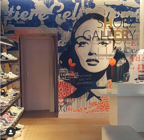 """Collage chez """" Shoez Gallery"""" LYON 1er"""