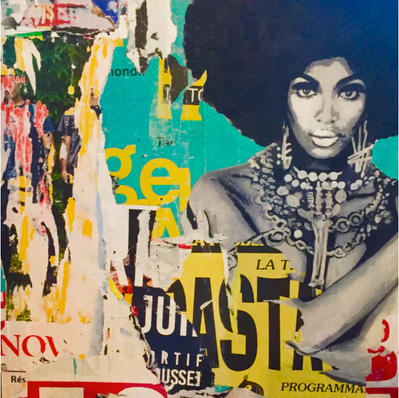 """The Supremes"" 80 x 120 cm (vendu)"