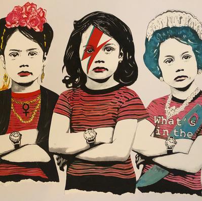 Triplette ( Frida, ziggy,Queen)