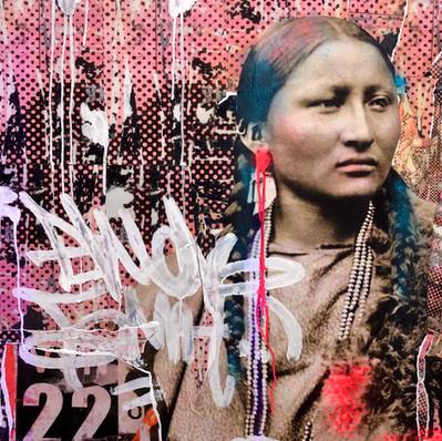"""Native American""80 x 80 cm"