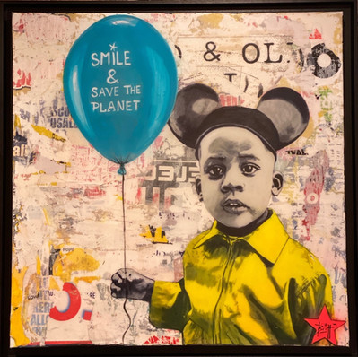 Smile & Save The Planet 80 x 80 cm