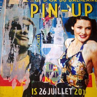 """PIN'UP"" 100 x 100 cm (vendu)"