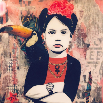 Miss Frida 80 x 80 cm