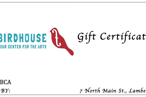 Gift Certificate: $40