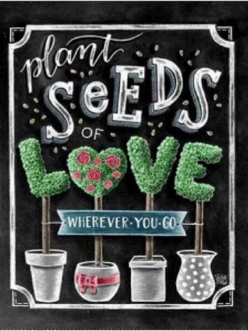 DIY Seeds of Love Diamond Painting Kit, 5D Full Drill Round 25*30cm