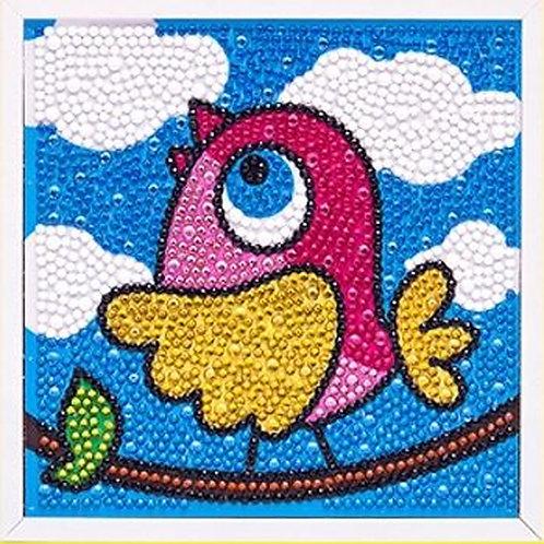 Bird Diamond Painting Kit with Frame