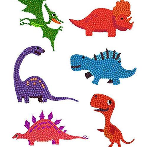 DIY Dinosaur Diamond Painting Sticker Kit