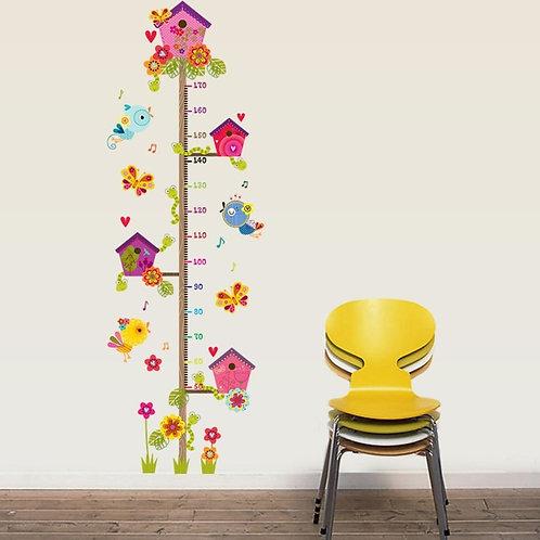 Bird House Decorative Wall Sticker Decal  Children's Height Measurement Wall Art