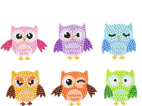 DIY Colorful Owl Diamond Painting Sticker Kit