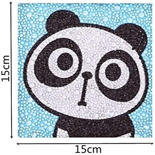 Panda Diamond Painting Kit for kids NO Frame, 5D Full, 15*15 cm