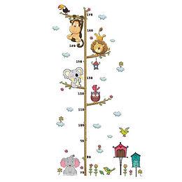Cartoon Animal Decorative Wall Sticker Decal Children's Height Measurement Decal
