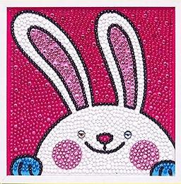 Bunny Rabbit Diamond Painting Kit with Frame
