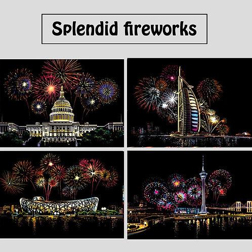 Splendid Fireworks Scratch Art Kit