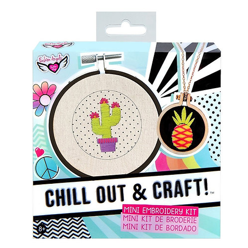 Fashion Angels® Chill Out & Craft™ 3pc Mini Embroidery Kit
