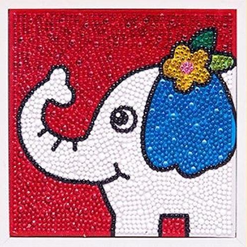 Elephant Diamond Painting Kit with Frame