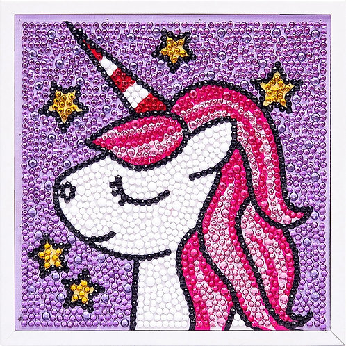Unicorn Diamond Painting Kit with Frame