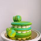 Teal and Green Macaron Cake