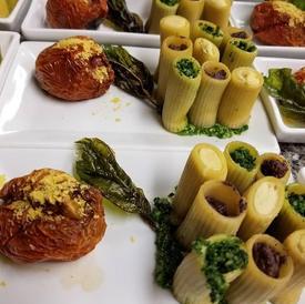 Stuffed Pasta with delicate cashew spread