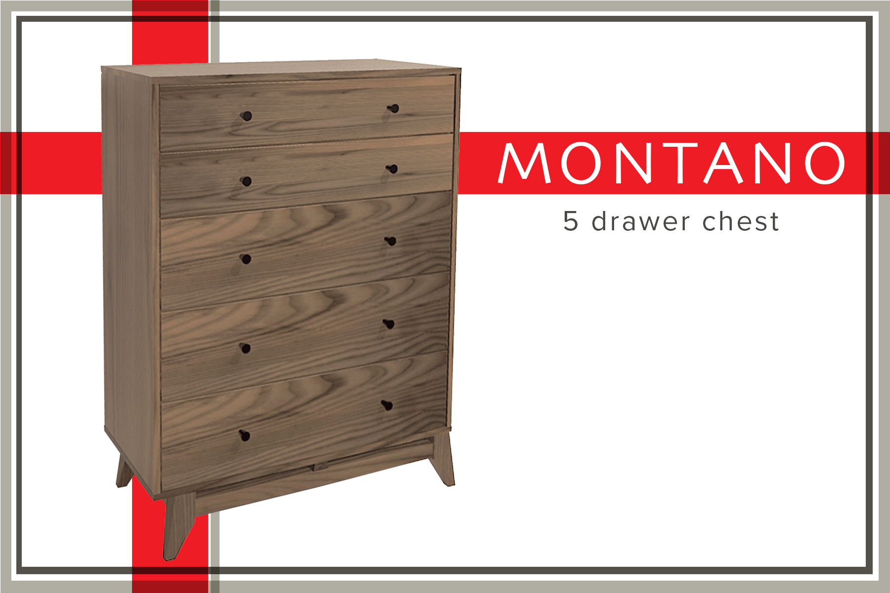 Montano 5 drawer chest