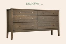 Calvin 6 Drawer Dresser