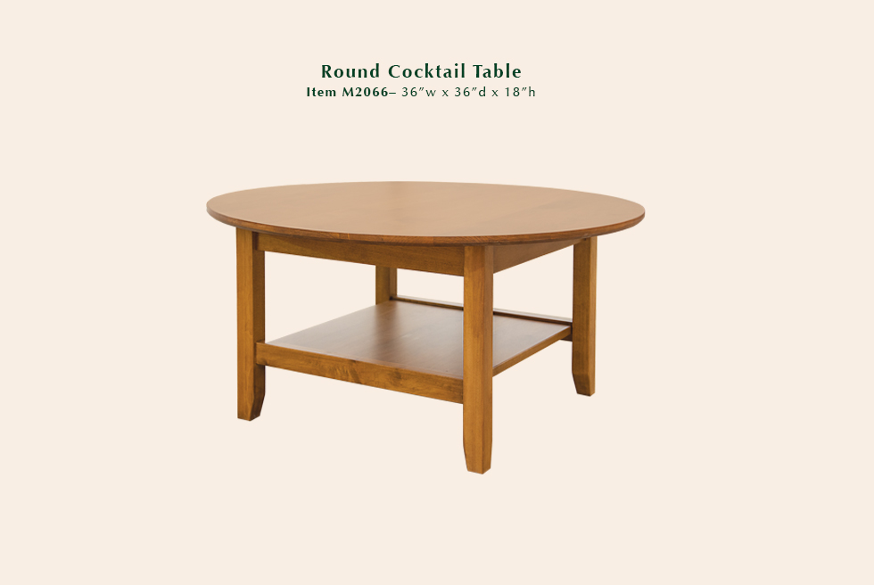 Riviera Round Cocktail Table
