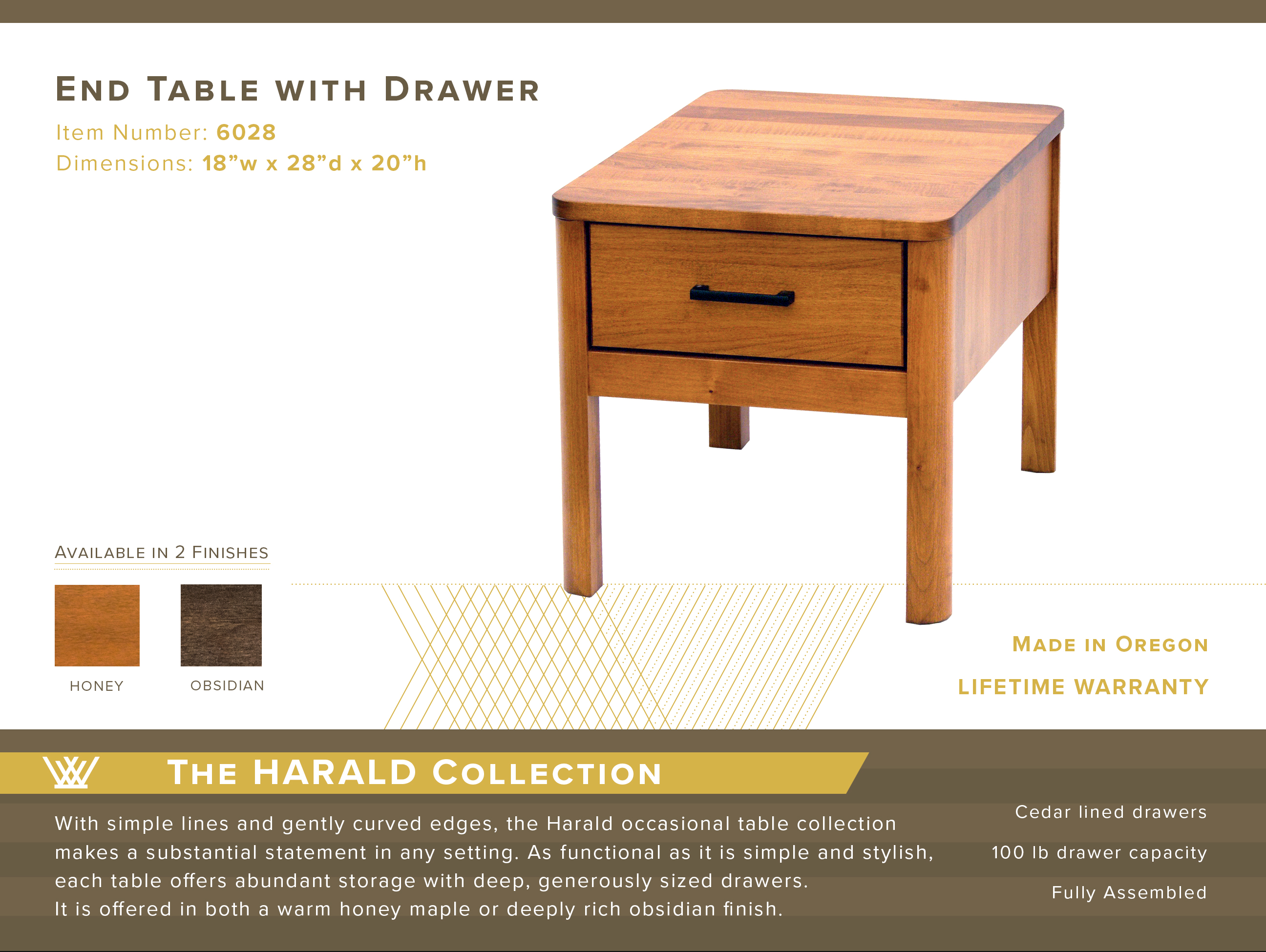 Harald End Table #6028