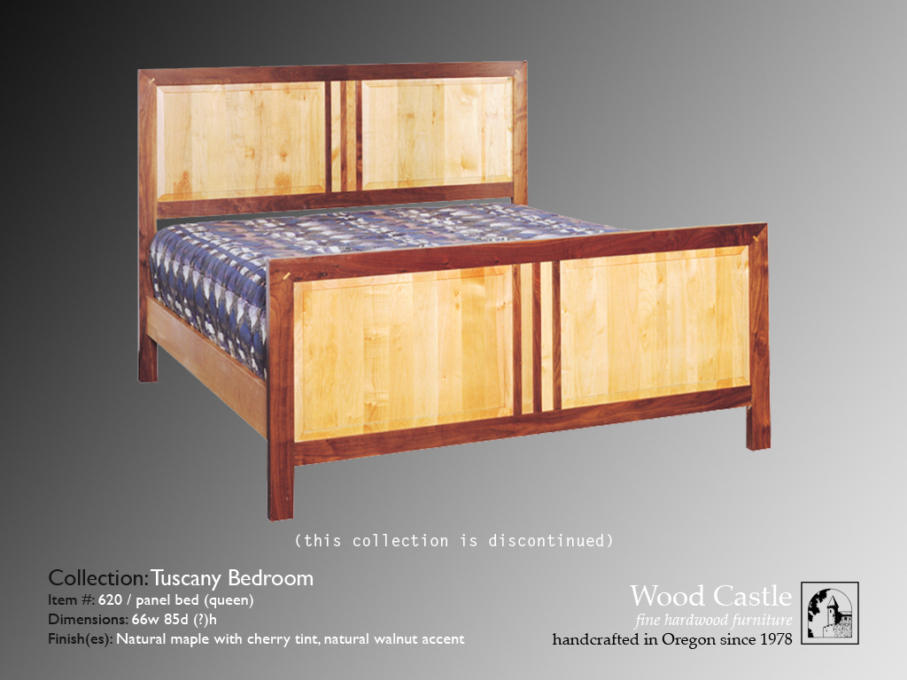 Tuscany maple 620 panel bed