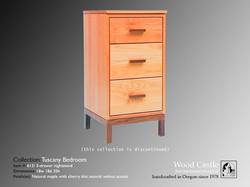 Tuscany maple 613 3-drawer nightstand