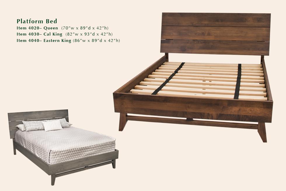 Montano platform bed