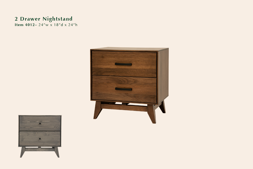 Montano 2 drawer nightstand