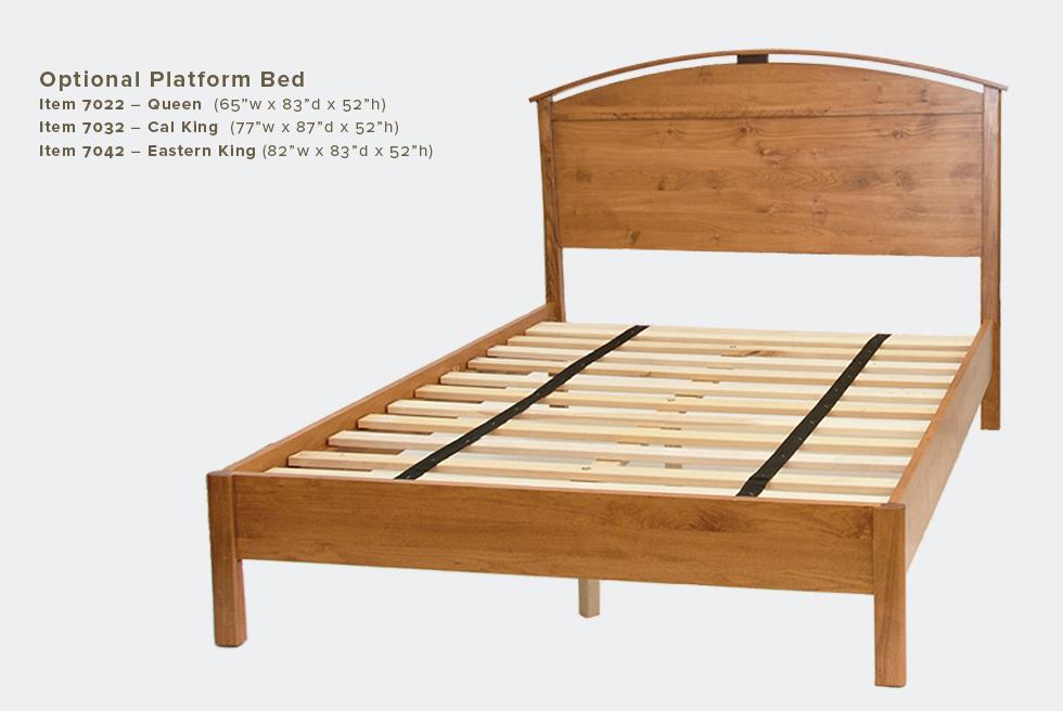 Mia Optional Platform Bed