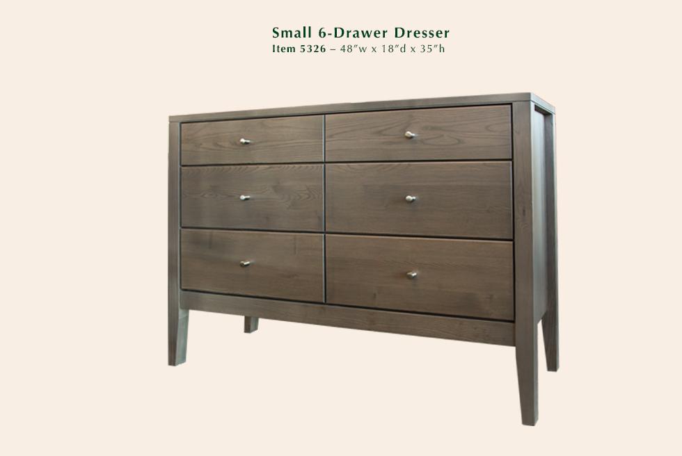 Calvin Small 6 Drawer Dresser