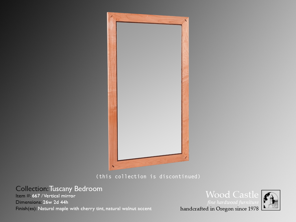 Tuscany maple 667 vertical mirror