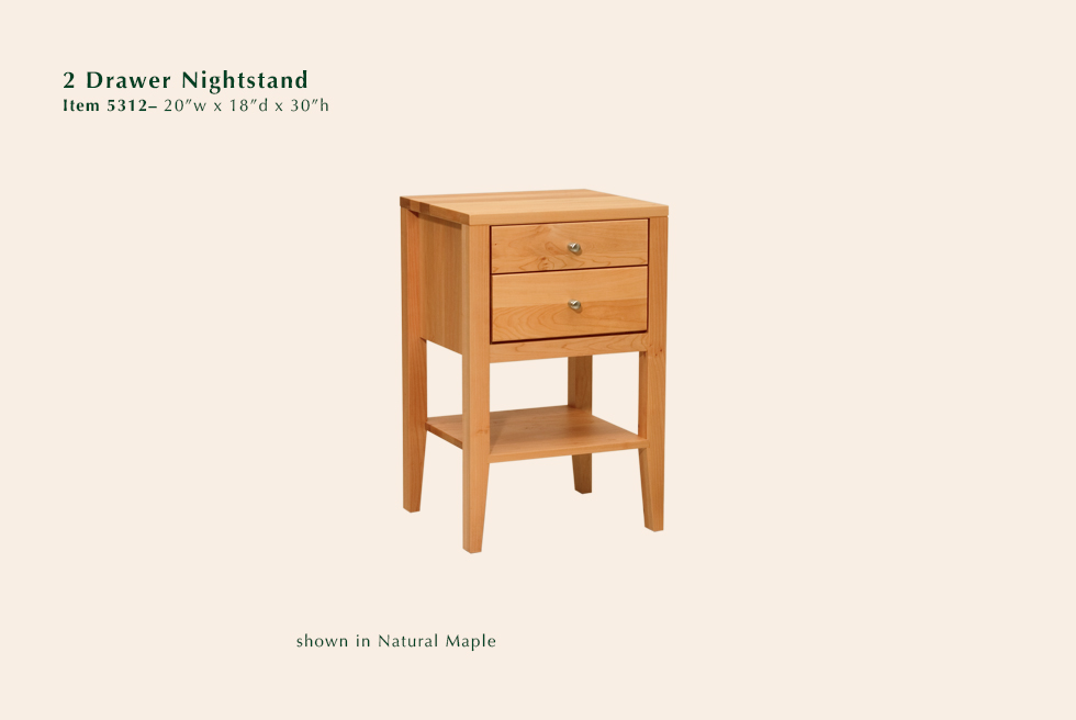 5312 2 dr nightstand