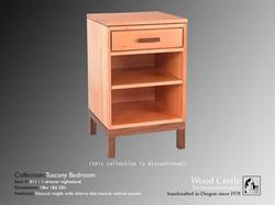 Tuscany maple 611 1-drawer nightstand