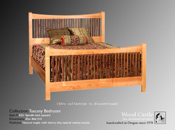 Tuscany maple 622 spindle bed