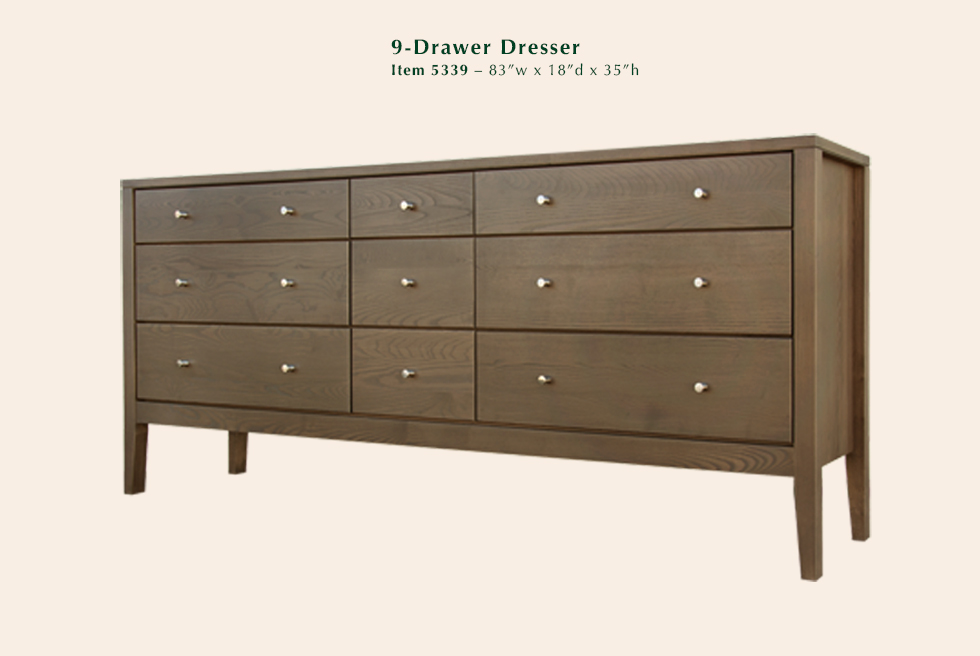 Calvin 9 Drawer Dresser