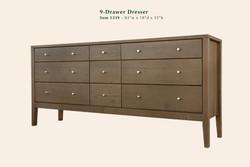 Calvin 9 Drawer Dresser