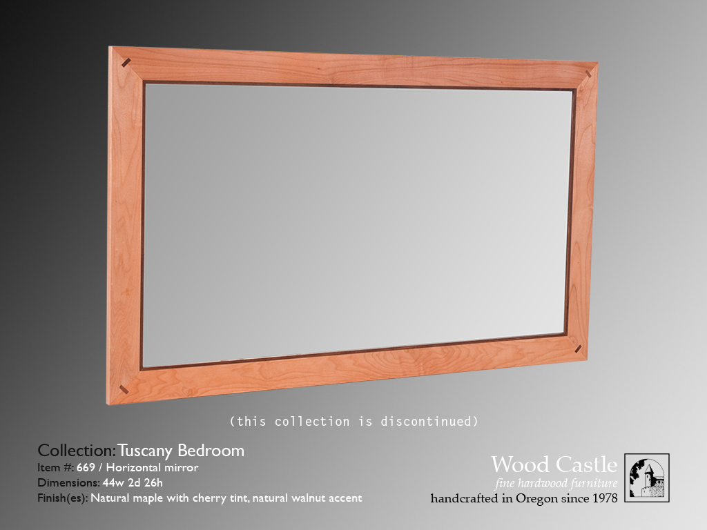 Tuscany maple 669 horizontal mirror