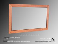 Tuscany maple 669 horizontal mirror