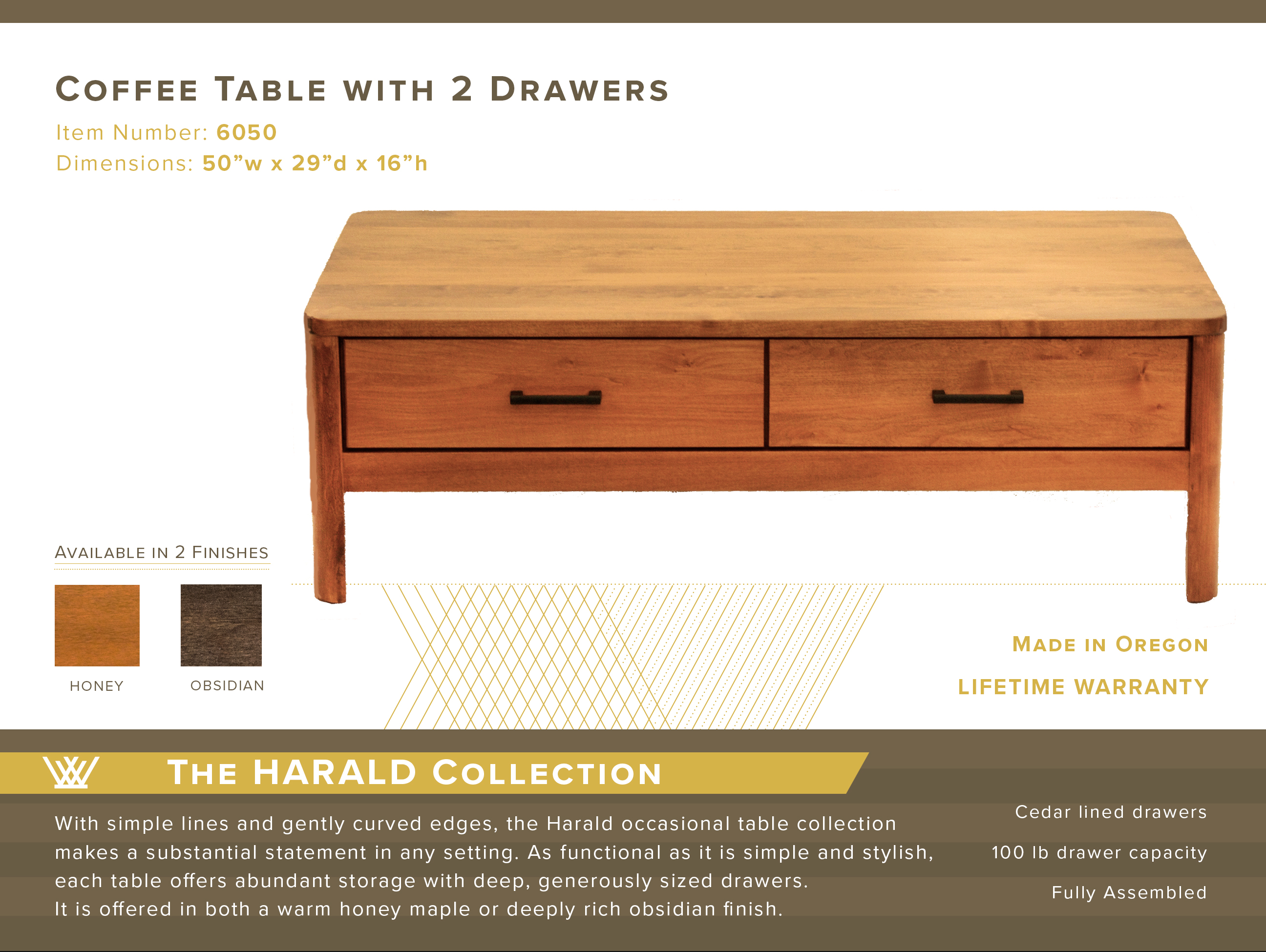 Harald Coffee Table #6050