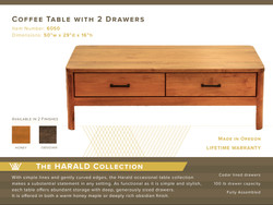 Harald Coffee Table #6050