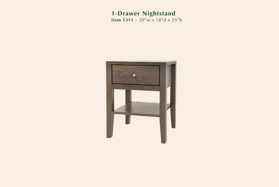 Calvin 1 Drawer Nightstand